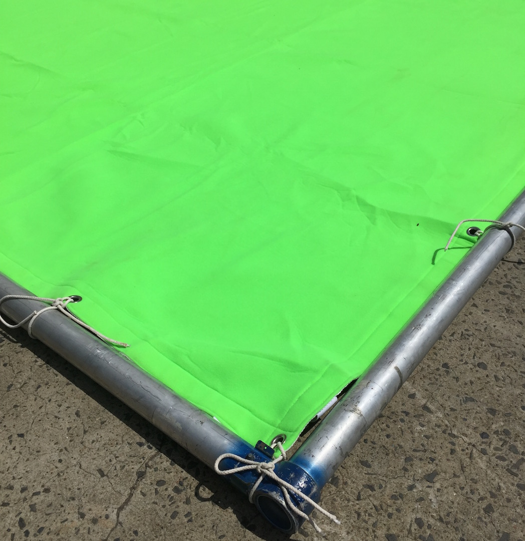 Green Screen in Click-Together Frame