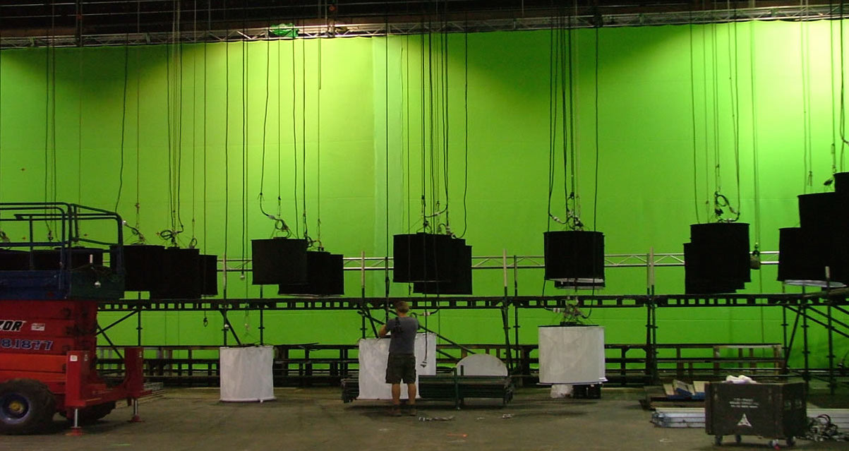 30' x 60' Green Screen used on Happy Feet 2 at Fox Studios.