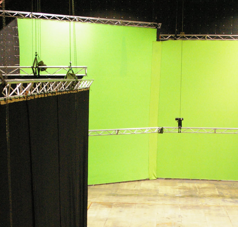 Green Screens and Black Drapes on 45 Degree angle used for Revolver Quaker Oats TVC