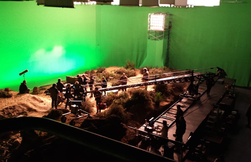 Our 30' x 130' Green Screens used on Oddball at Docklands Studios